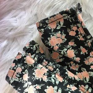 Divided Jeans - Floral print skinny jeans Jeggings